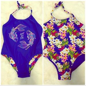 Reversible Tommy Bahama One Piece Swimsuit sz 3T